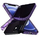iPhone 12 Mini Case, Aeska Ultra [Slim Thin] Flexible Clear TPU [Scratch-Resistant] Gel Rubber Soft Skin Silicone Protective Case Cover for iPhone 12 Mini 5.4-inch (Purple)