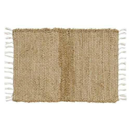 VHC Brands Burlap Natural Chindi/Rag Rug, 2'3