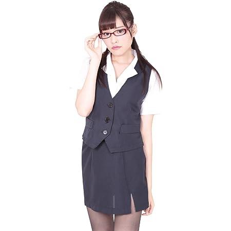 BeWith 密室秘書 ベスト&タイトスカート OL制服 コスチューム 紺/白 レディース