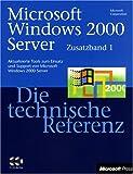 MS-Press Windows 2000 Server Tech Ref - Zusatzband 1, kein Buch, 2 CD -