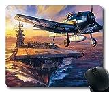 Yanteng Aviones de la Guerra Mundial, Mouse Pad, Vuelo de Caza, Mouse Pad con Bordes cosidos
