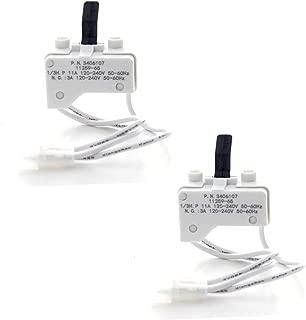 (2 Pack) Rayhoor 3406107 Dryer Door Switch Replacement for Whirlpool & Kenmore Dryer - Replaces 3405100, 3405101, 3406100, 3406101, 3406107, 3406109