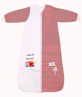 Slumbersac Winter Toddler Sleeping Bag Long Sleeves 3.5 Tog - Fire Engine, 18-36 Months/Large