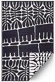 FAB HAB Serowe - Black Alfombra/tapete para Interiores y Exteriores (120 cm x 180 cm)