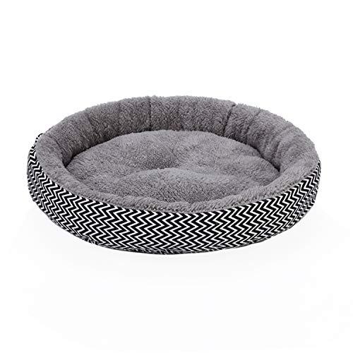 JZK Cama de donut de felpa suave y cálida para invierno, cama de perro pequeña, lavable para mascotas, colchón redondo para gatos, perros y cachorros de tamaño pequeño