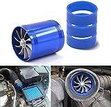 Ventilador doble de la turbina de Mesllin, turbocompresor del ahorrador de combustible del gas del mercado del filtro de aire del coche con el sostenedor de goma 3