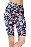 sissycos Pantaloni corti da donna con stampa oceano, pantaloni da ciclismo colorati Conchiglia marina L/XXL