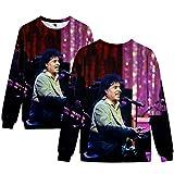 Photo de Little Richard Pullover Style Pull Loisirs Sweat-Shirt Respirant Outwear élégant à Manches Longues Sweats à Capuche Manteaux Unisexe Unisexe (Color : A09, Size : XXL)