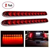 "Nilight 2PCS 16"" 11 LED Red Trailer Light Bar for Park Stop Turn signals Tail Brake Light DOT Compliant IP65 Waterproof Truck Trailer Marker ID Bar, 2 Years Warranty"