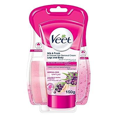 Veet In-Shower Hair Removal Cream for Normal Skin, Lotus and Jasmine Fragrance, 150 ml