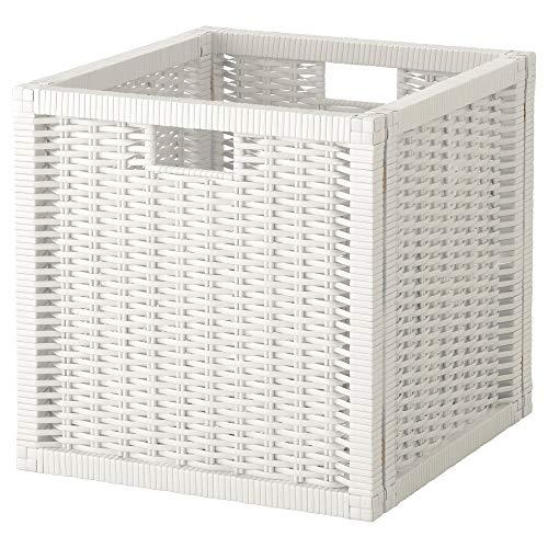 Cestino bianco, dimensioni assemblate larghezza: 32 cm, profondità: 34 cm, altezza: 32 cm