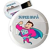 My Custom Style PenDrive USB tonda 4,3cm-0,3mm SuperPapà2 16Gb