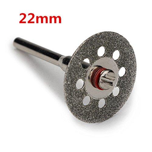 5 stks 22 mm 9 Gaten Diamond Coated Snijschijven met 1 Mandrel voor Dremel