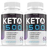 (2 Pack) Keto 1500 Advanced Shark Tank Pills Supplement Keto Advance Ketogenic Exogenous Ketones for Men Women (120 Capsules)