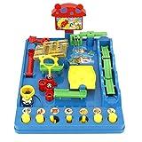 Puzzle di Labirinti per Il Desktop Tema del Parco Acquatico Gioco da Tavolo per Bambini Coordinazione Occhio-Mano Pensiero Logico Educazione Precoce Regalo per 3 4 5 6 7 Anni Bambino