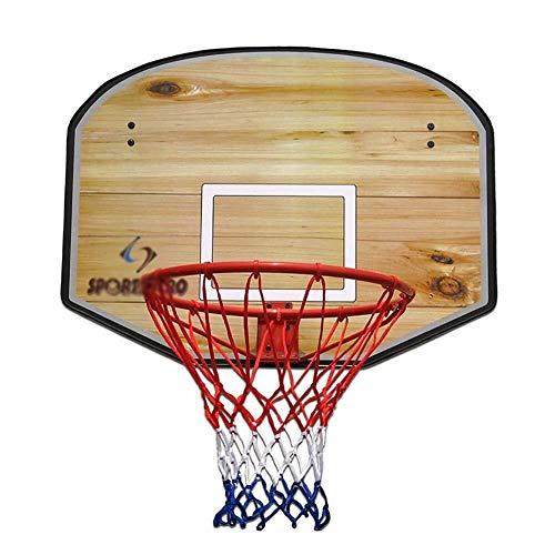 Outdoor-Basketballkorb Wandmo Basketballkorb mit Ball & 31-Zoll-Holz-Rückenbrett, Mini Standard Basketball-Ziel for Indoor & Outdoor Einstellbare Basketball Ständer