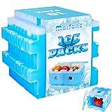 Morfone 10 Stück Kühlakku,Puzzleform Kühlakkus für Kühltasche,Platzsparend Kühl-Akku,Frei-Gespleißt Kühlelemente für Kühlbox und Reisen【Wiederverwendbar】