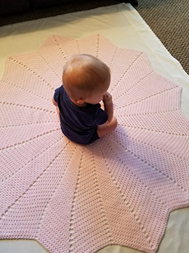 Solid Color Starburst Baby Afghan, Security Blanket, Crochet blanket, Baby Shower Gift, Baby gift, Photo Prop, Nursery blanket, baby, baby girl/boy, gender neutral, newborn, toddler - Made to Order