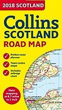 2018 Collins Map of Scotland (Collins Maps) [Idioma Inglés]