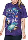 The Mountain Wolf Of The Cosmos Adult T-Shirt, Purple, Medium