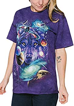 The Mountain Wolf Of The Cosmos Adult T-Shirt Purple Medium