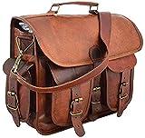 """Craft Shop 15"""" Vintage Leather Messenger Soft Leather Briefcase Satchel Leather Laptop Messenger"""