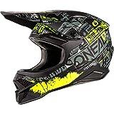 O'NEAL | Casco da motocross | MX Moto | Guscio in ABS, Standard di sicurezza ECE 22.05, Prese d'aria per una ventilazione ottimali | 3SRS Helmet Ride | Adulto | Nero Giallo Neon | Taglia M