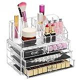 Boby Organizador de Maquillaje Caja para Transparente Metacrilato Guardar Cosmeticos Almacenaje Plastico 4 Cajones