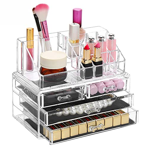 boby Porta Trucchi Organizer Organizzatore Trucco per Make Up Cosmetici Cassetti Bagno Trasparente