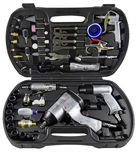 JBM 52331 Kit Herramientas Pistola y carraca neumática con Accesorios