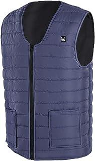 JFTMY Winter USB Heating Vest Smart Heating Cotton Vest Electr Skating Ski SportWaistcoat Jackets Men Warm Vest Women (Col...