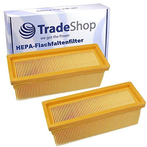 2x Flachfaltenfilter/Lamellenfilter/HEPA-Filter für Kärcher 6.414-498 2501 2501TE 2601 2601plus 3001 SE2001 SE3001 SE5100 SE6100 SE6100plus 3001hot 2701 A2701 2701TE A2731pt 2801 A2801 2801plus A2801+