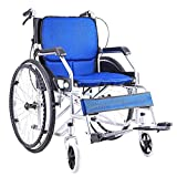 MU Autopropulsada Silla de Ruedas Plegable Manual con Respaldo Extraíble Doble Freno con Pedal Ajustable Patinete para Discapacitados/Ancianos