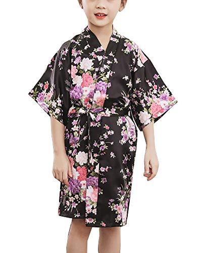 Niñas Pijama Kimono Robe Bata Albornoces Flores Cómoda Bonita Camisón Albornoz SPA Natación Cumpleaños