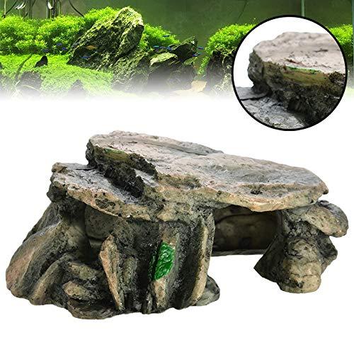 Aquarium Hiding Cave Rock Reptile Climbing Platform Terrarium Accessoires Stenen Voor Fish Tank Decoration