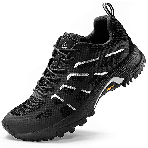 Wantdo Women's Trekking Shoes Lightweight Tennis Shoe Jogging Sneakers Black 8 M US