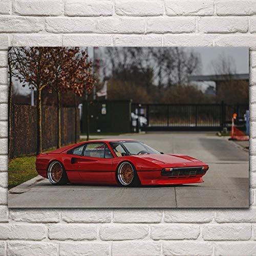 VVSUN Red Supercar GTB Sports Car Classic Roadster Lienzo Pintura póster Sala de Estar decoración del Arte de la Pared del hogar, 60x90cm (sin Marco)
