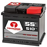 Tokohama Autobatterie 12V 55AH 510A/EN ersetzt 50Ah 52Ah 53Ah 54Ah 44Ah 45Ah