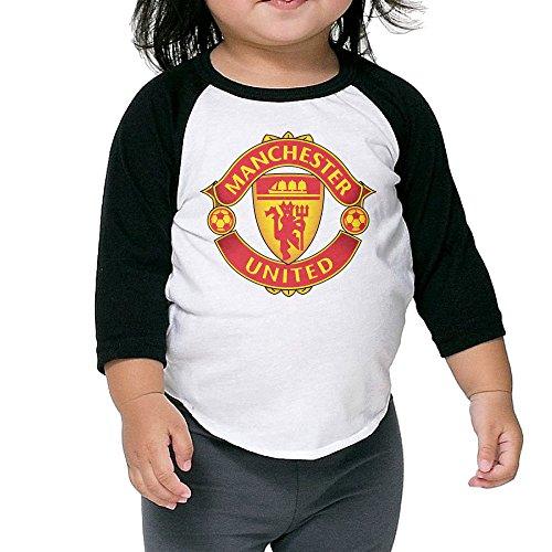 Manchester United FC Football Unisex Toddler Raglan 3/4 Sleeve Baseball T Shirt Top