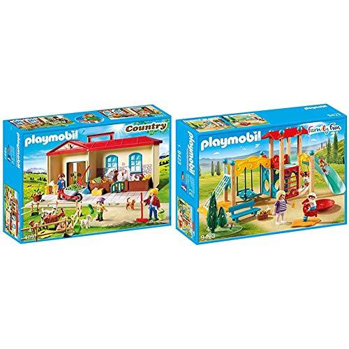 PLAYMOBIL Granja- Maletín, única (4897) + Family Fun Parque Infantil, a Partir de 4 Años (9423)