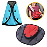 2 Pack Seatbelt Adjuster for Kids Adults, Safety Seat Belt Covers Seat Belts Positioner Safe Vehicle Car Child Chest and Harness Cover Triangular Holder, Soft and Breathable (Random Color)