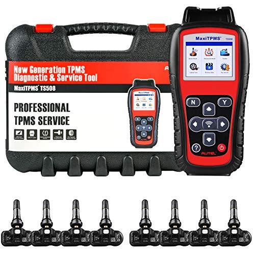 Autel MaxiTPMS TS508K Herramienta de Diagnóstico TPMS para Programación de TPMS, TPMS Reaprender, Activación del Sensor, con 8 PCS de MX-sensores 433MHz, Versión Actualizada. de TS408 TS501