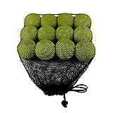 AZXAZ Pelotas de Tenis Paquete de 12 Balones de Práctica de Tenis sin Presión Juguete de la Bola del Juego del Perro de los Niños con Bolsa de Malla para Las Clases, Practica, Juega