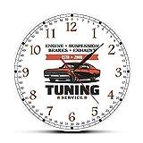 ALKLKJ Horloge Murale Moteur Frein De Suspension Échappement Tournant Service Horloge Murale Atelier De...