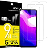 NEW'C 3 Unidades, Protector de Pantalla para Xiaomi Mi 10 Lite, Antiarañazos, Antihuellas, Sin Burbujas, Dureza 9H, 0.33 mm Ultra Transparente, Vidrio Templado Ultra Resistente