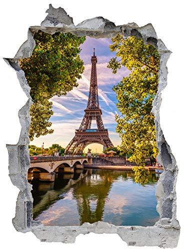 DesFoli Paris Eiffelturm Wandtattoo Wandsticker Wandaufkleber E1038 Größe 67 cm x 90 cm