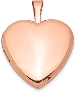 925 Sterling Silver Rose Gold Plated 2 Frame Heart Photo Pendant Charm Locket Chain Necklace That Holds Pictures Fine Jewelry Gifts For Women For Her