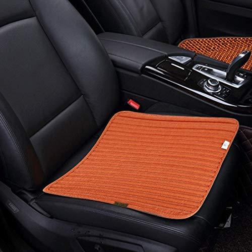 Verwarmde autostoelbekleding, universele vierseizoenen, anti-slip kussen, mat, auto-accessoires, bureaustoel, stoel, stoel, voor auto-familie, kantoor, (2 stuks) oranje