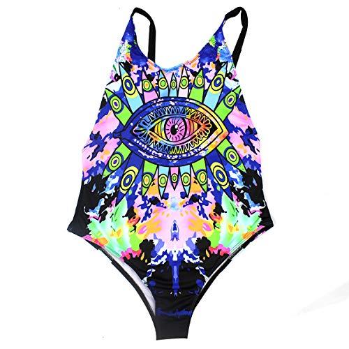 Rave Wear Damen Body, Einteiler, sexy Badeanzug, New 2019 EDC Festival Rave Kleidung -  mehrfarbig -  Medium