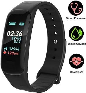 Pulsera Reloj Inteligente Smarwatch deportivo Bluetooth Multifuncional Smart watch Rastreador de fitness IP67 Impermeable para Hombres, Mujeres(Negro)
